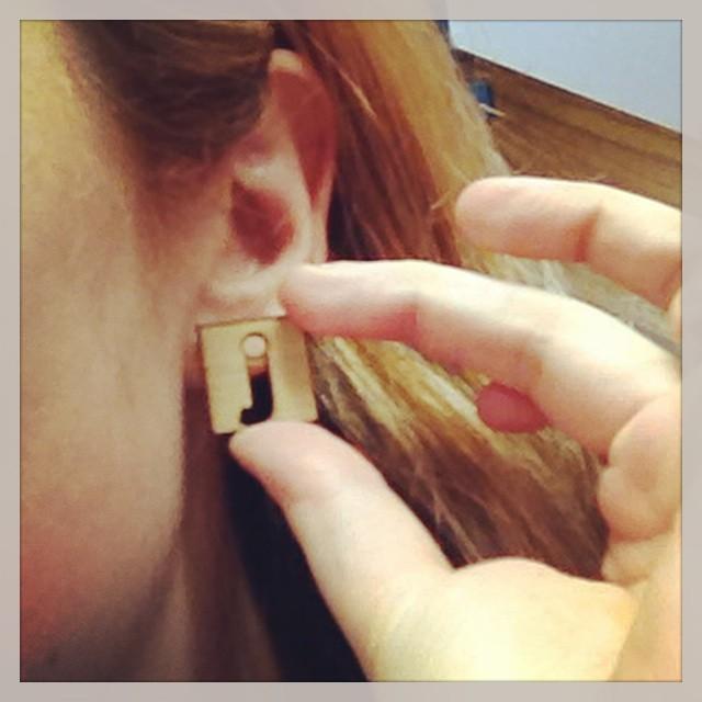 Custom laser printed 9Jumpin earrings. Oh yeah.