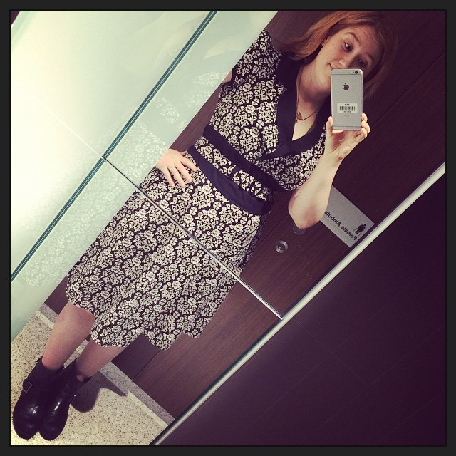 #frocktober day 22. Jolene dress by @heartofhaute and biker boots. (First pic from iPhone 6+!)