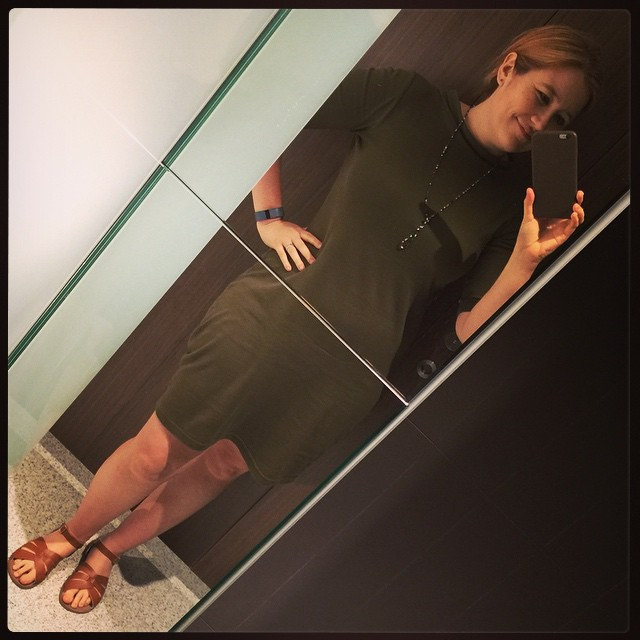 #frocktober day 23. Green Super Spy Dress from @heartofhaute with Saltwater Sandals. (I was going for a sort of