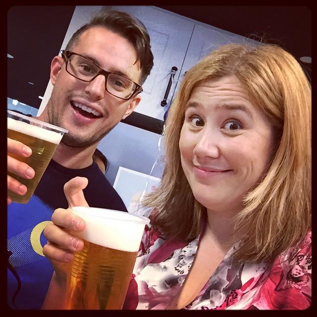 Don't we look like we're enjoying the Budweiser? #shudder #diversitydrinks