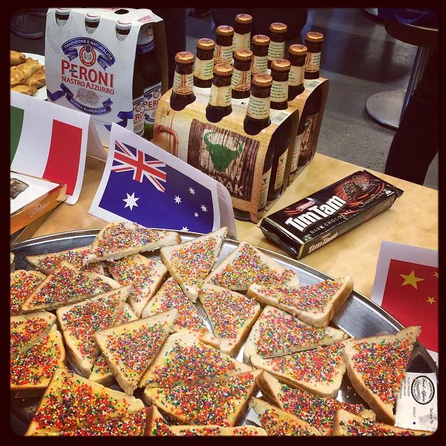 Team Australia: Fat Yak, fairy bread, and Tim Tams v#diversitydrinks