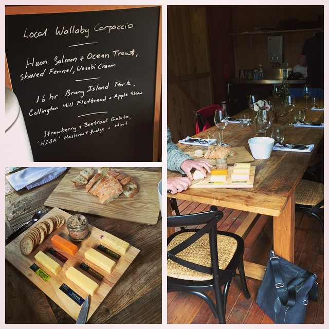 Lovely dinner. The pork rillettes and shoulder came from Ross O'Meara's farm (of Gourmet Farmer fame)! @brunyislandlongweekend
