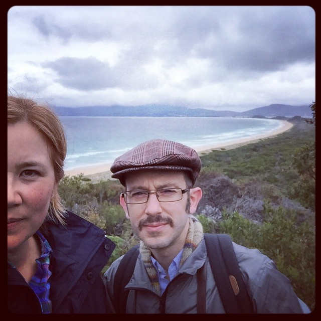 It's 10:30am and I've already done 8500 steps! Bruny Island is pretty spectacular so far...