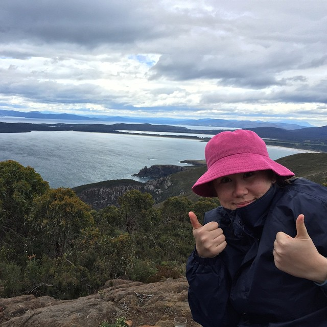 Made it. Hardest bush walk I've ever done. 12000 steps, 8.8km, 107 floors climbed. It's quite brisk at the peak! @brunyislandlongweekend #nofilter
