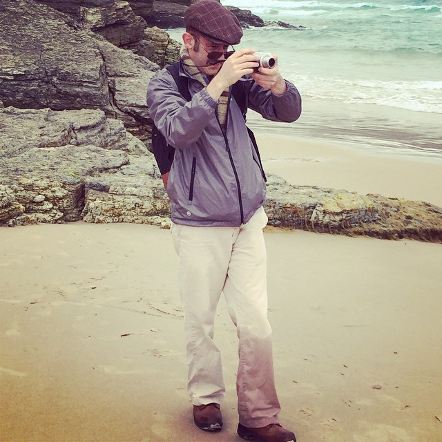 The intrepid nature photographer is not afraid to get his pants wet for the perfect shot.