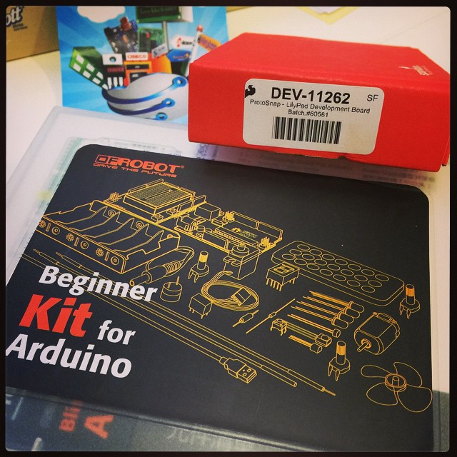 Delivery! Ooh, perfect timing for the 3-day weekend. #arduino #lilypad #makeallthethings