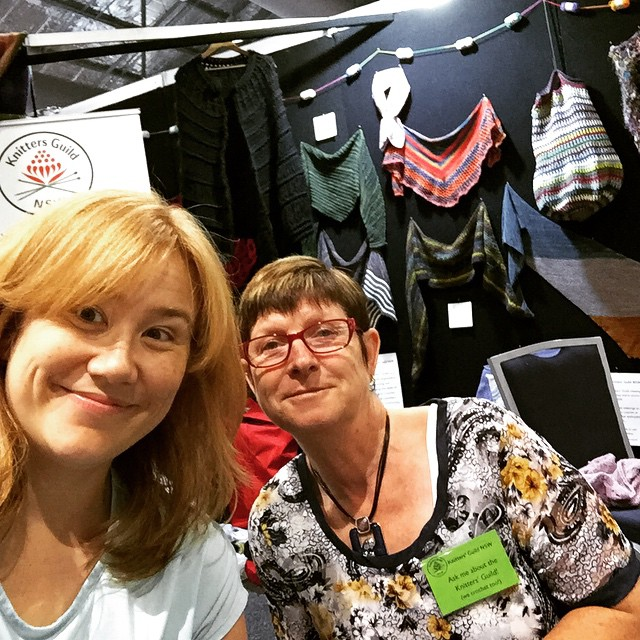 Selfie with Helen at the Knitters Guild stall. Come say Hi if you're at the Show!