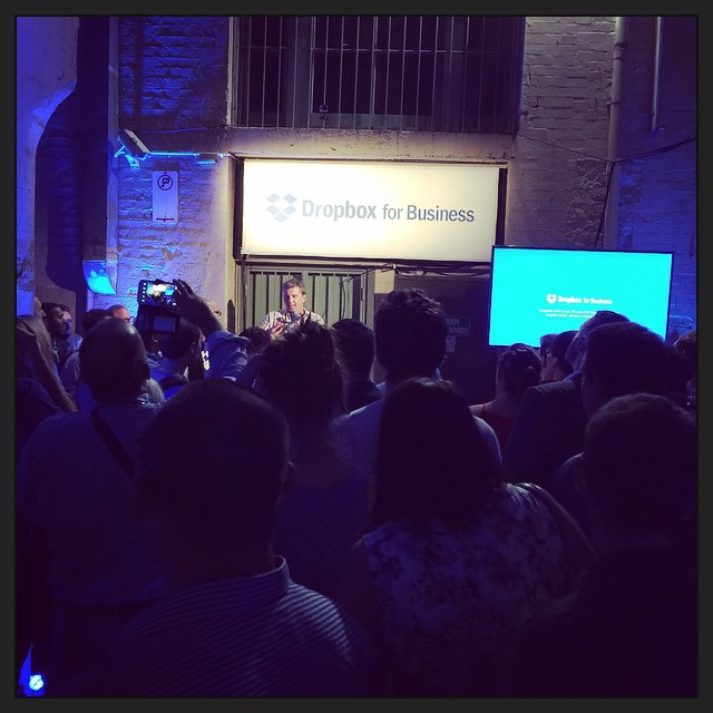 Dropbox + Canva event in a laneway. This is novel.