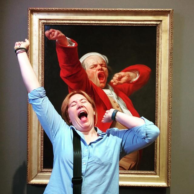 Self-Portrait, Yawning, Joseph Ducreux. #musepose #reallifememe