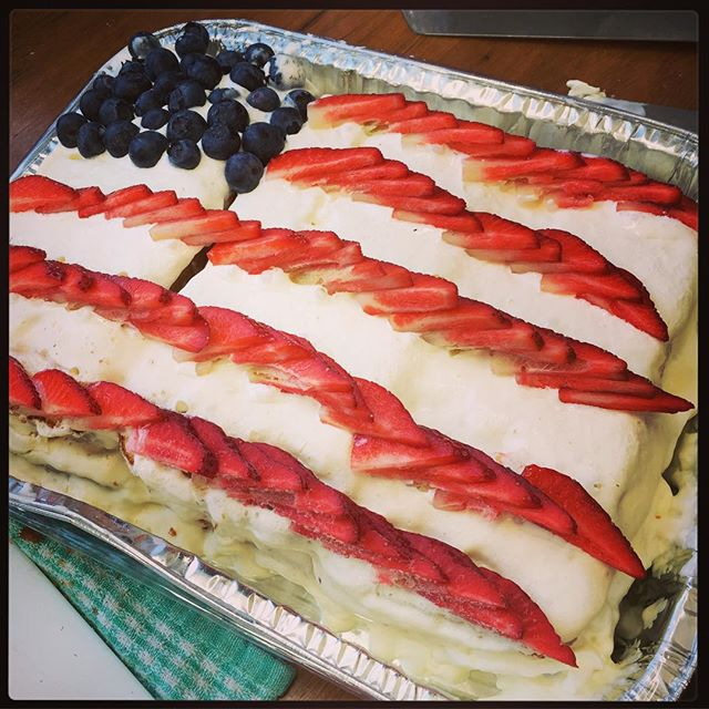 Complete with Flag Cake!! #spoiled #happy4thofjuly @canva @canvavibe