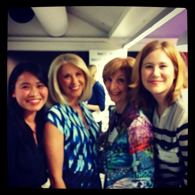 So this happened tonight. @spottedliger, Tracey Spicer, Caroline Jones, and me. #inspired #womeninmedia