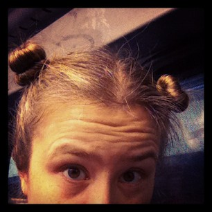 Workin' the rare and elusive double-topknot on a rainy day. (cc @toastman)