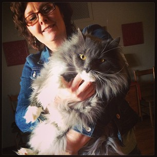 Fraggle is even bigger and fluffier than Dr. Amy!