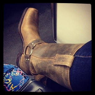 Crappy afternoon, but the arrival of my replacement Frye Company boots cheered me up immensely!