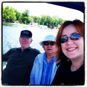 Boat ride with Grandma and Grandpa Harter today.