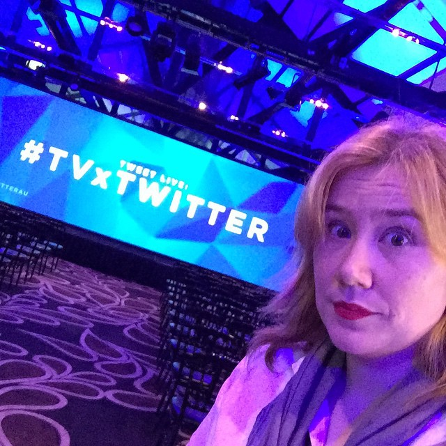 What else does one do at a Twitter event but take a dubious selfie? #TVxTwitter #notmyusualtechcrowd