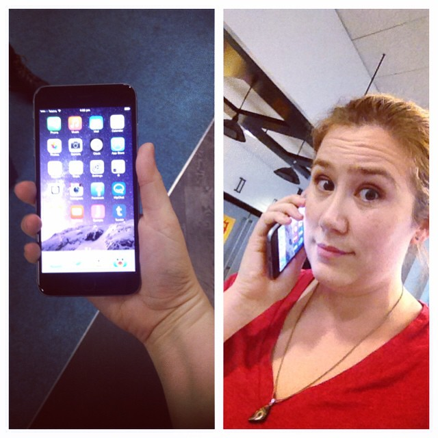Okay, the iPhone 6+ isn't that ridiculously huge. I can deal. (I borrowed this one for testing.)