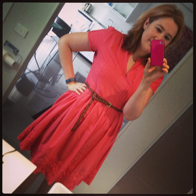 #frocktober day 11. All frocked up in coral for another day of #mudgeesmuggler!
