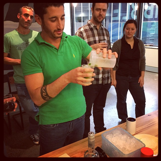 Bruno the Brazilian was mixing caipirinhas in a protein shaker! #diversitydrinks