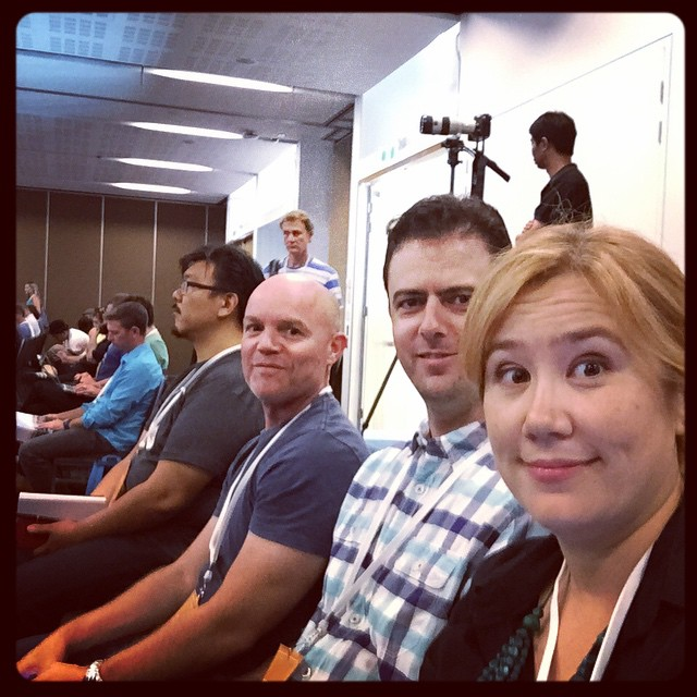 Post-lunch 9Jumpin team selfie at #Respond15 with @andrewmamo and Pat.