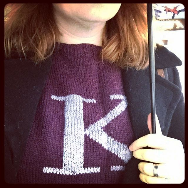 A cold and rainy day is happier as a Weasley. #paradeofforgottenhandknits