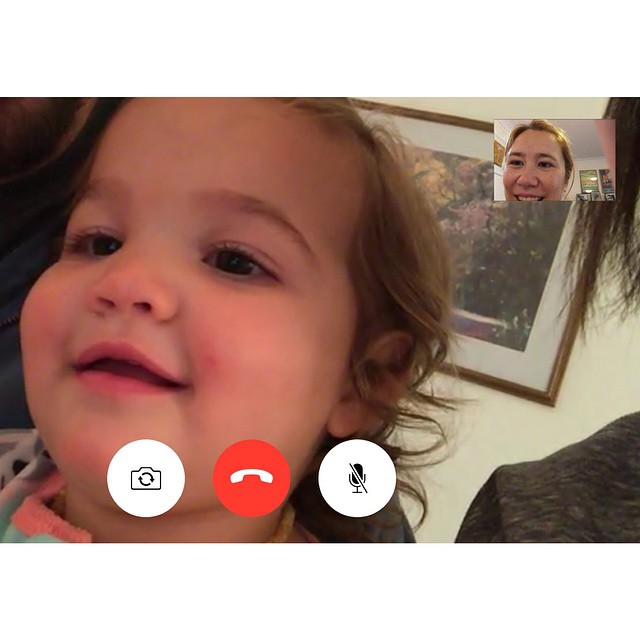 Today I FaceTimed with the sweetest, cutest, chubbiest baby in the world.