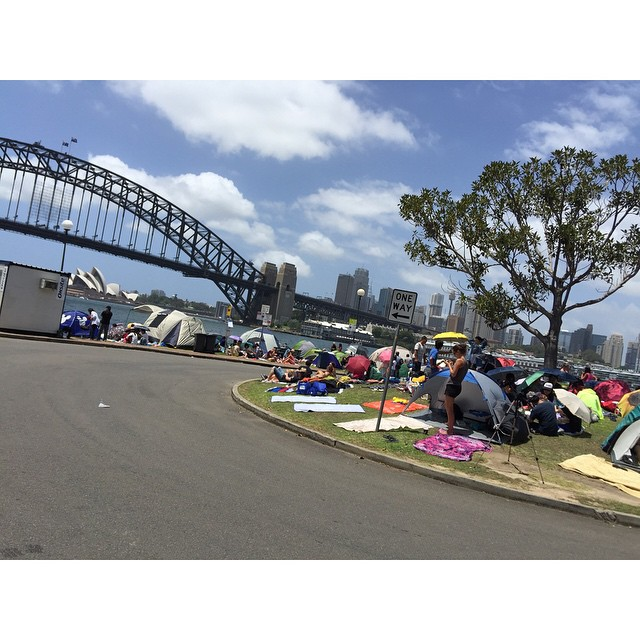People camped out from last night to get the best views of tonight's fireworks!