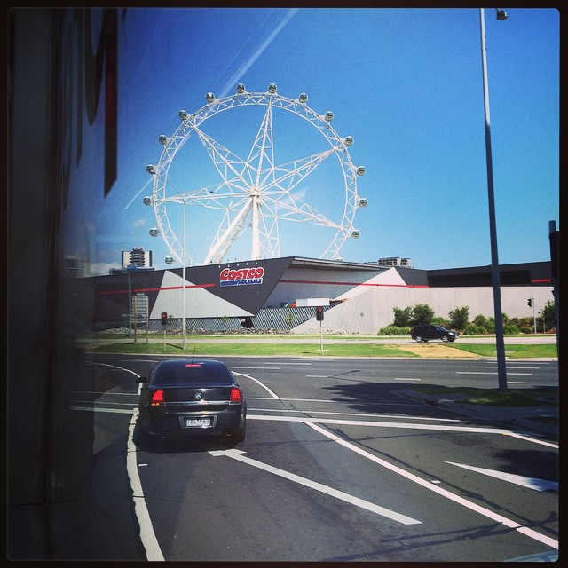 The Melbourne Costco sells Ferris wheels!