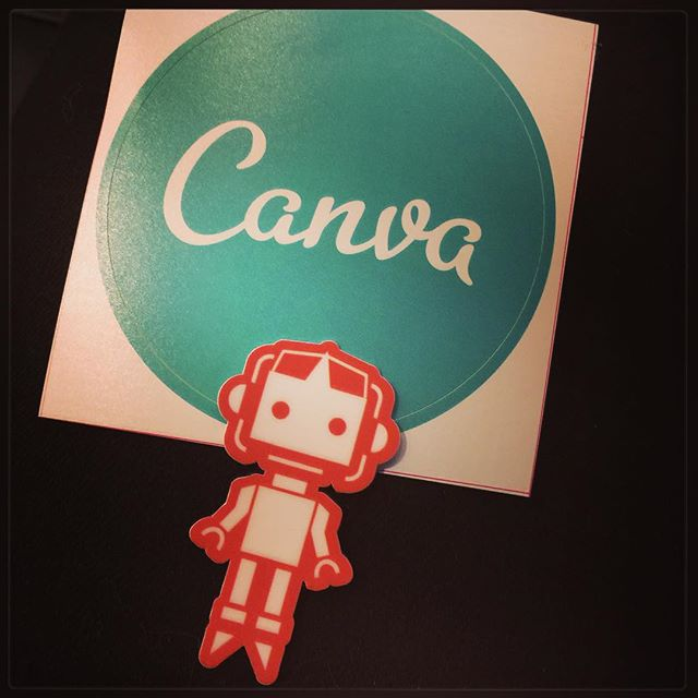Swapped some @canva stickers for #SydCSS robots. My laptop is going to be very happy!