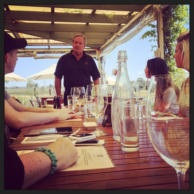 Learning about the history of di Lusso estate. Absolutely perfect day for Italian food and wine alfresco. #mudgeesmuggler