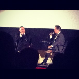 Jonathan Rhys-Davies going on and on (and on and on) at tonight's Raiders screening. Very cool.