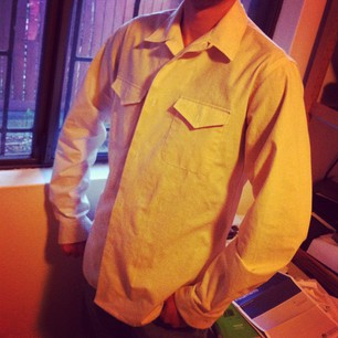 Negroni is finished (except for buttons). I made a man's shirt, and it fits the Snook! #sewvember