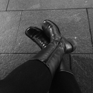 Self, let's be honest. You are too damn old to wear these boots for 12+ hours. #dying
