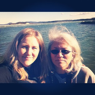 Me and Mom after a lovely lunch in Nambucca Heads