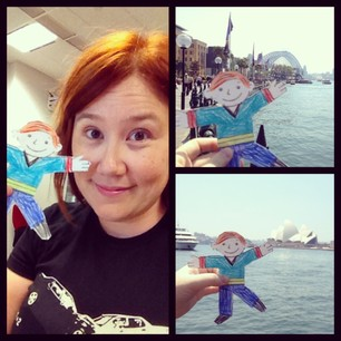 Adventures with Flat Stanley. (The things I do for other people's kids...)