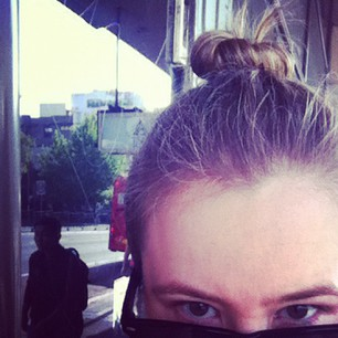 At first I was doing the topknot ironically, but now I kinda like it. Feels like I'm from a dystopian future.