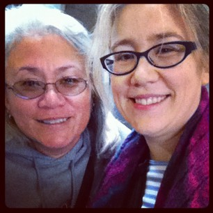 Airport pickup success! Me and my Mom. :)