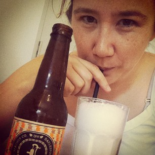 My first ever Ginger Beer Spider (aka ice cream float). YUM.