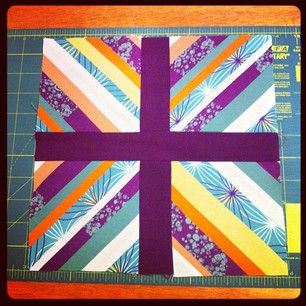 Finished this month's MetaQuilter square. That was a LOT of seaming! #sewvember