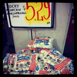 Holy crap. Harris Farm is selling American marshmallows! $5.29 for 300g. I am such a sucker.