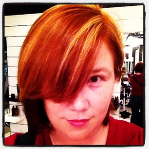 "Fun at the salon. ""Screw subtlety. I like looking like a superhero."""