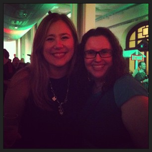 Me and the lovely @catehstn at the Goog party!