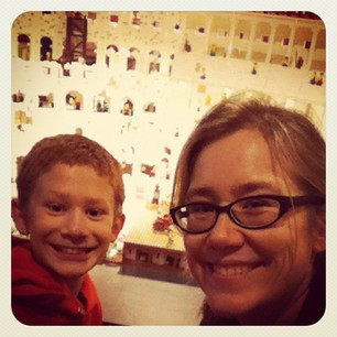 My brother Joey and I at the Lego Colosseum.