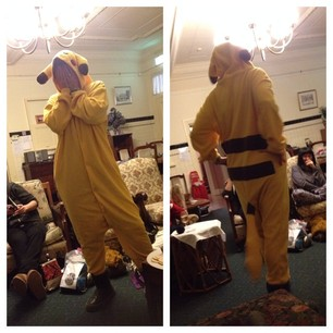 A grown woman dressed as Pikachu. I am possibly the only person in the room JEALOUS.