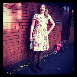 New dress, properly styled. Just need to learn to apply makeup and I'll look like a proper grown-up!