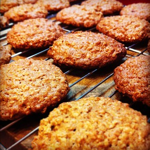 Maple Brown Sugar Oatmeal Cookies for  @konvict67  tomorrow...