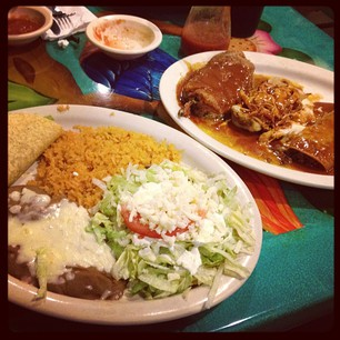 I ordered the Special Dinner at local Mexican place. This is what they brought. Both plates. BLEURGGHHHH.