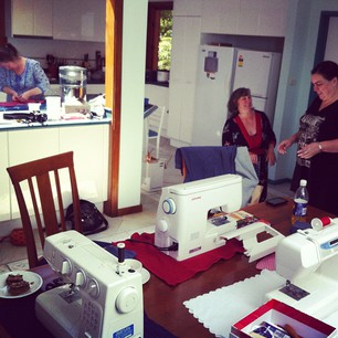 Ain't no party like a sewing party!