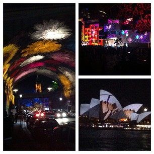 Start of the Vivid Festival! Sydney Harbour in stunning lights.