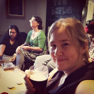 Sewing party has been followed by knitting party at the pub!